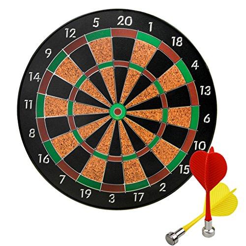 "Clobeau Magnetic Dartboard Set with 6 Darts, 12"" Safety Dart Board Game, Best Gift for Kids Teens Boys Girls"