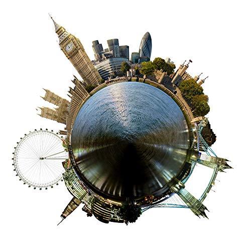 Fisheye Lens Muursticker, reis rondom de wereld Home Decoratie, geschenk voor kinderkamer, stad