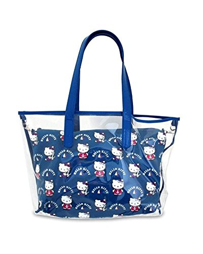 CREACIONES Bolso de playa Hello Kitty transparente azul 0383