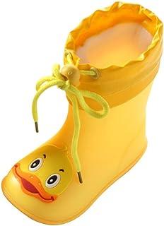 a60e51fb87229e CLOOM Bambino Impermeabile Scarpe da Pioggia, Ragazzi Ragazze Stivali da  Pioggia Bambini Infantile Leggero Pioggia