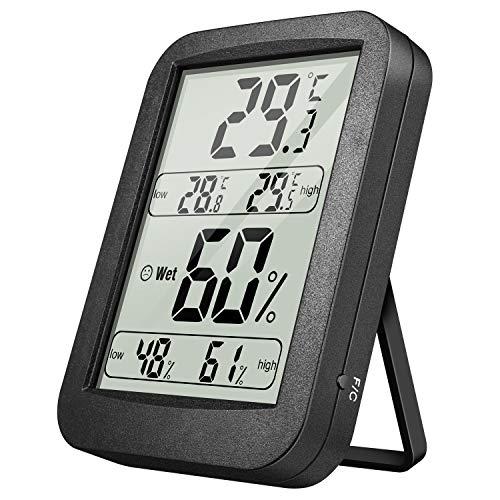 Yosemy Thermometer Hygrometer Innen Digital Raumthermometer Temperatur und Luftfeuchtigkeit Tragbares Hydrometer Feuchtigkeit mit Hohen Genauigkeit,für Wohnzimmer,Büro,Babyzimmer,Abstellraum