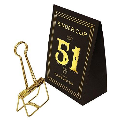 BINDER CLIP/バインダークリップ 51 TTLB【ゴールド】 TL020-GD