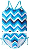 Kanu Surf Girls' Big Melanie Beach Sport 2-Pc Banded Tankini Swimsuit, Olivia Blue Chevron, 12
