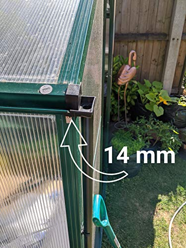Speedwellstar 2 Greenhouse Rainwater Guttering Down Pipe 14 mm Black Water Butt Shed Gutter Drain Universal 8 Piece Kit Fitting