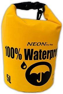 حقيبة تجفيف نيون 100% مقاومة للماء، مشمع PVC 500D، زوارق، صيد السمك، التخييم، رياضات مائية، الشاطئ، البحيرة، النهر.