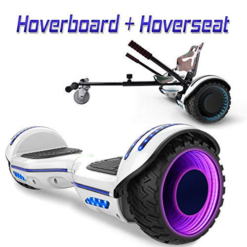 COLORWAY 6.5inch Hoverboard with Bluetooth Balance Electric Scooter Scooter E-skateboard with LED wheel (Blue-kt)