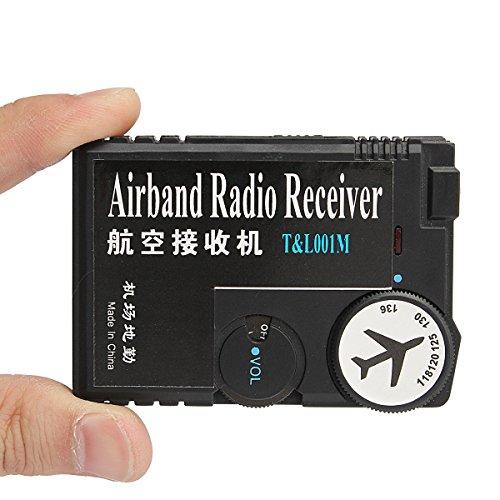 MASUNN 118Mhz-136Mhz Air Band Radio Ontvanger Luchtvaart Ontvanger Voor Luchthaven Grond