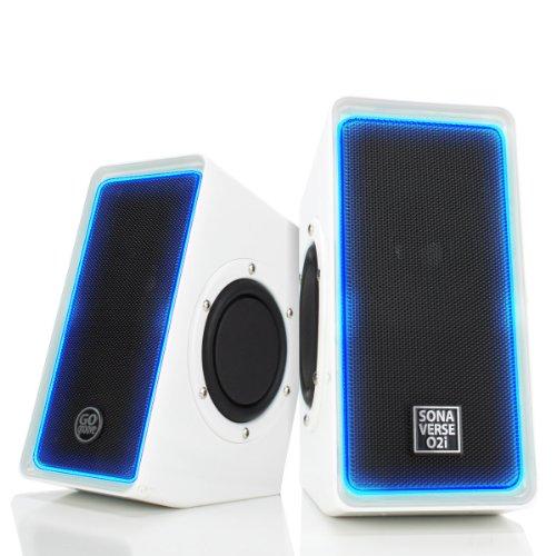 GOgroove Desktop Speakers for Laptop Computer - SonaVERSE O2i Gaming...