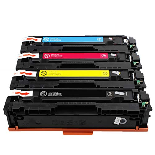 AXAX Cartucho de tóner Compatible 206A para HP CF540A CF541A CF542A CF543A Reemplazo para HP Color Laserjet Pro M254DW M254NW MFP280 M280NW 281CDW Impresora Combination