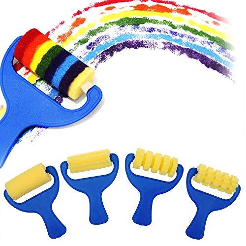GGG Niños pintura Esponja 4Pcs / set Color agua Stamper