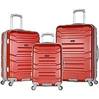 Olympia Denmark 3 Piece Luggage Set (Wine)