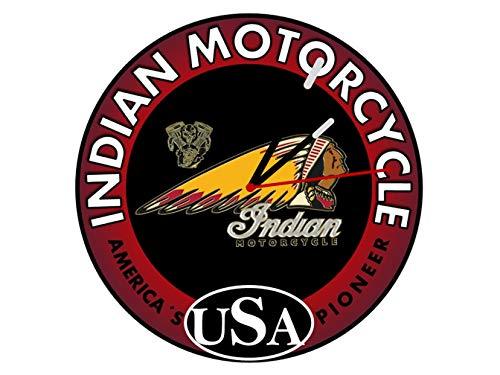 Indian Motorcycle Reloj de pared.