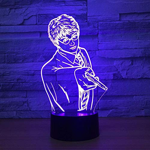 3D Luz De Noche Led de luz nocturna lámpara para sala de estar guapo Gift Darling In The Best Birthday Holiday Gifts For Children Cambio de color colorido, con interfaz USB