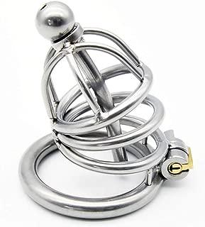 HZS Prisoner Bird Genuine Male Metal Stainless Steel Chǎstīty Lock/Belt Men's Protection Device Alternative Toy Lock T-Shirt (Size : S)