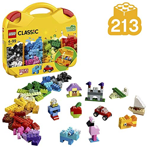 LEGO10713ClassicCreativeSuitcase,ToyStorage,FunColourfulBuildingBricksforKids