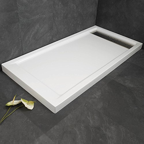 Plato de ducha (Shadow antideslizante, blanco, 80 x 120 cm