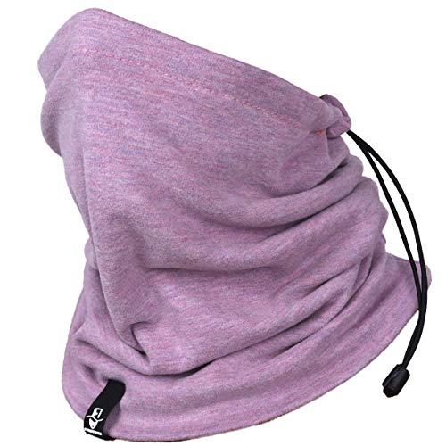 VECRY Halswärmer Gamasche Gesichtsmaske Bandana für Herren Damen Sturmhaube Gesichtsschutz Winter Sommer Schal (Rosa)