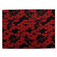 500ピース ジグソーパズル 鯉と扇 赤黒 和風 パズル 木製パズル 動物 風景 絵 ピクチュアパズル Puzzle 52.2x38.5cm