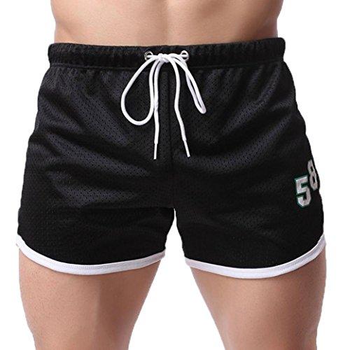 POTTOA Männer Sport Shorts Fitness Shorts Atmungsaktive Freizeit Shorts Sommer Mode Herren Hosen Bodybuilding Freizeit Kurze Hosen
