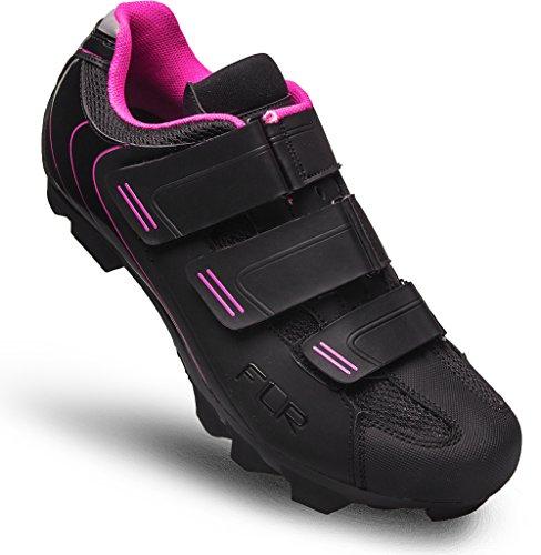 Zapatillas MTB flr, Zapatilla de Ciclismo, Negro,Rosa, Talla 37