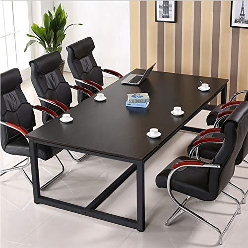 ZJZJ Mesa Mesa De Reunión Oficina,Escritorio De La Computadora Espesado Escritorio,Amplias Ajustable Fácil De Montar Mesilla Negro 240x120cm