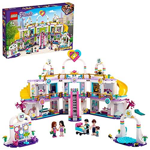 LEGO 41450 Friends Centro Comercial de Heartlake City Juguete de construcción con 5 Tiendas, 4 Mini Muñecas y un Bebé