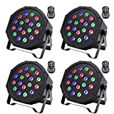 U`King LED Uplights Wireless RGB Stage Uplighting Par Can Lights Battery Powered Up Light by Sound Activated and DMX Control for Wedding DJ Disco Events Birthday Parties Church