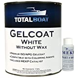 TotalBoat Marine Gelcoat for Boat Building, Repair and Composite Coatings (White, Quart with Wax)