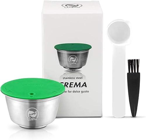 i Cafilas Dolce Gusto Cápsula de Café Reutilizable Recargable Dolce Gusto Filtro de Café Compatible para Dolce Gusto,...