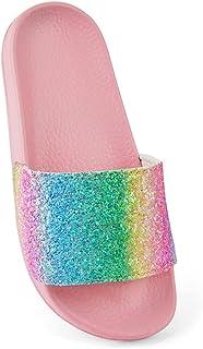 Girls, Kids, Childern Glitter Rainbow Pool Sliders Beach Sandals Flip Flops