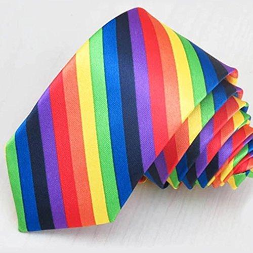 ZSRHH-Neckchiefs Halstücher Krawatten-Regenbogen-Krawatte der Männer Schöne Krawatten-Abnutzungs-Bunte Mode-Krawatte