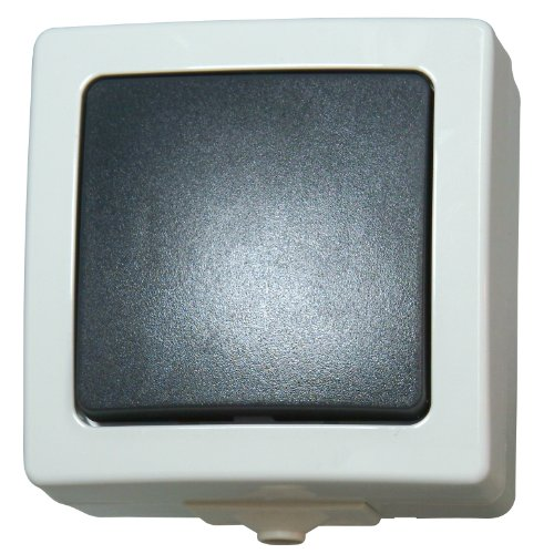 Kopp 565656001 Nautic Universalschalter (Aus-und Wechselschalter), grau