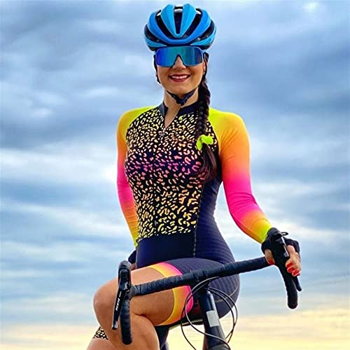 Triatlón Mujer Maillot de ciclismo Manga larga Ropa de ciclismo Ropa de ciclismo transpirable (Color : 13, Size : 4XL)