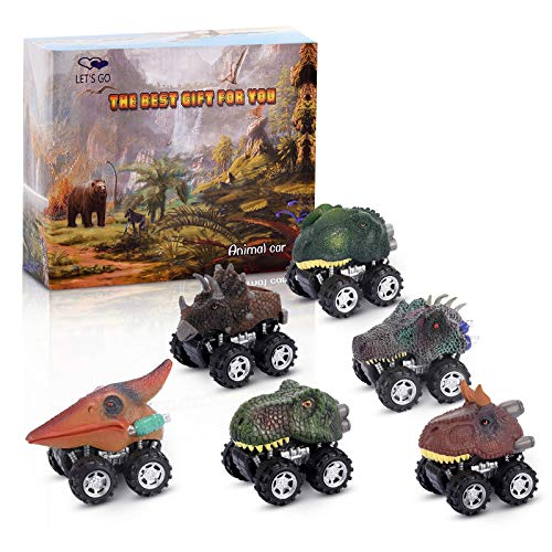 Dinosaur Toys for 3-6 Year Olds Boys Kids, dmazing Pull Back Dinosaur Cars Toys for 3-6 Year Old Boys Easter Birthday Gifts for Boys Age 3-6 Truck Toys for Kids 3-5 Toddler Boy Toys