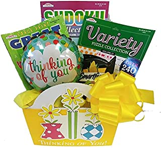 Thinking of You Gift Basket: for Women w/ Puzzle Books