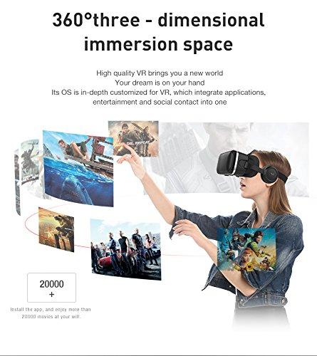 Compatible avec Les Smartphones /à /écran de 4,7 /à 6,7 Pouces Noir AZUOYI VR 3D Multifonctionnel Lunettes de r/éalit/é virtuelle t/él/éphone Portable VR Casque VR Jeux et Films 3D