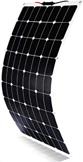 Solar Panel 120W 18V 12V ETFE Bendable Flexible Ultra Thin Solar Charger with MC4 Connector Charging for RV Van Truck Car SUV Boat Cabin Tent