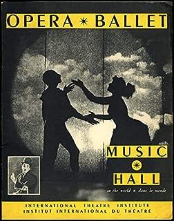 OPERA BALLET MUSIC-HALL III 1953 Marcel Marceau Art of Mime Chaplin +