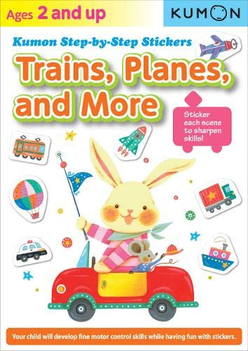 Step by Step Stickers: Trains, Planes, and More