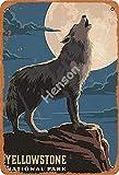 Yellowstone National Park Jahrgang Blechschild Kunst