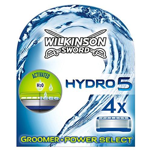 Wilkinson Sword Hydro 5 Groomer/Power Select Rasierklingen, für Herren Rasierer, 4 St
