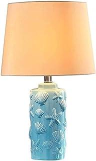 WYBFZTT-188 Creative Mode Lampe méditerranéenne Shell Table Céramique Chambre Lampe de Chevet Moderne Minimaliste Pastoral...