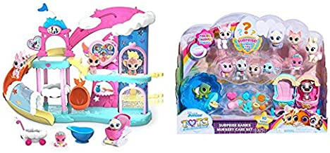 Disney Jr T.O.T.S. Nursery Headquarters Playset with Additional Figures (Amazon Exclusive) - Branded Mailer & Surprise Babies Nursery Care Set