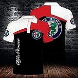 T-Shirt Polo Uomo Estate - Alfa Romeo 3D Stampato Marchio dell'automobile Manica Corta Casual Tops Felpa - Adatto A Giovani Uomini E Donne - per Itness Formazione A- 3XL
