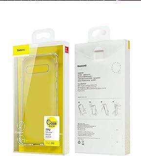 غطاء حماية من سلسلة سيمبل مصنوع من البولي يوريثين الحراري لهاتف سامسونج جالكسي اس 10 بلس من بيسيوس، شفاف