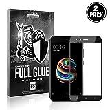 APOKIN [2-Pack Cristal Templado Full Glue 5D Xiaomi Mi A1 / 5X Protector de Pantalla Curvo Negro