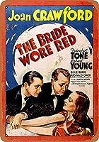 ブリキ看板1937花嫁は赤い着ていたコレクターの壁の芸術ティンサイン