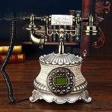 SXRDZ Teléfono Retro Teléfono Retro Teléfono Antiguo Teléfono Vintage Wire Teléfono Salón Café decoración-21x25x26cm (8x10x10 Pulgadas) Inicio Desk Decor Ornamento