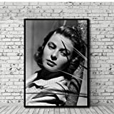 DNJKSA Ingrid Bergman Poster Leinwand Malerei Druck