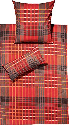 REDBEST Bettwäsche, Bettbezug Renforcé, 100% Baumwolle Terra Größe 135x200 cm (80x80 cm) - weich, hautfreundlich, atmungsaktiv, strapazierstark, mit Reißverschluss (weitere Farben, Größen)